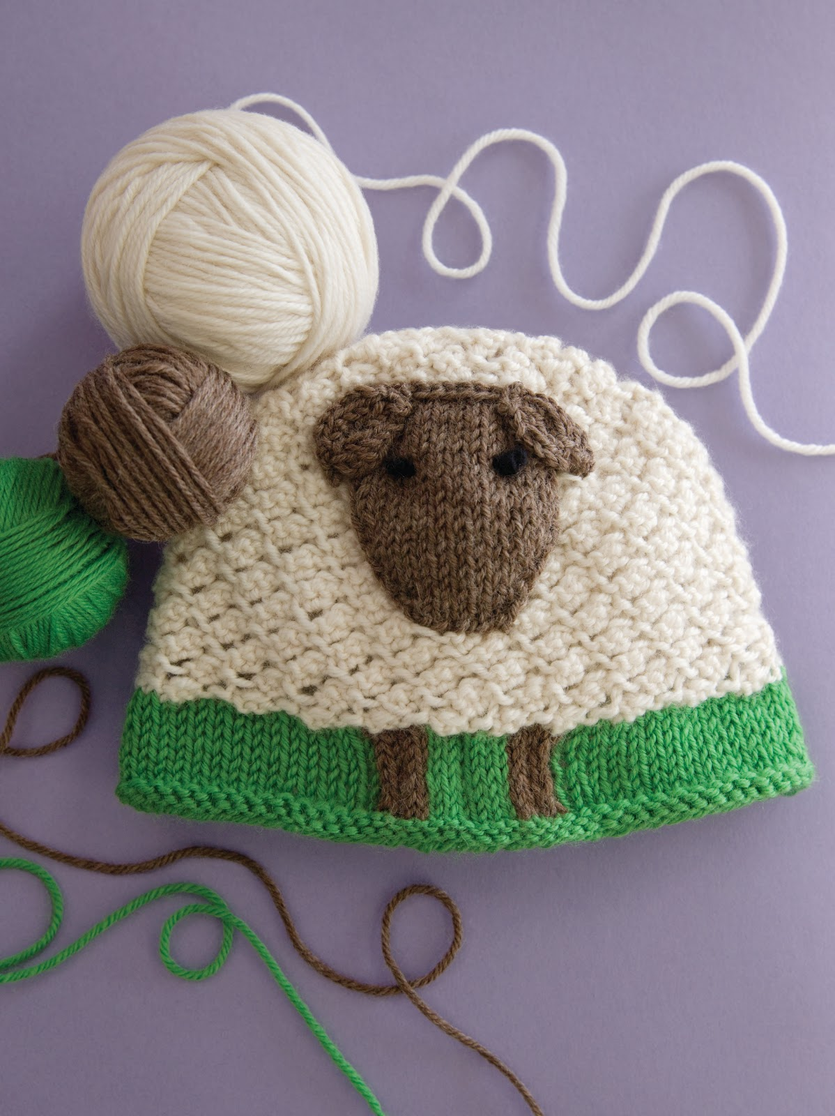 Cascade Yarns Blog: 60 Quick Baby Knits Preview - Sheep Hat by Renee Lorion