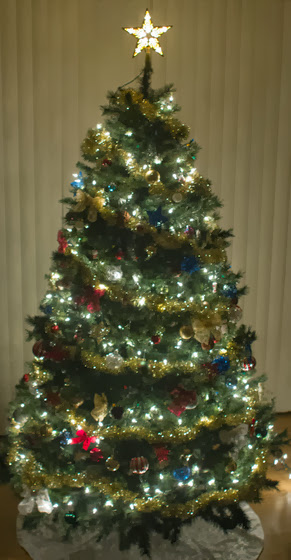 photo of a christmas tree