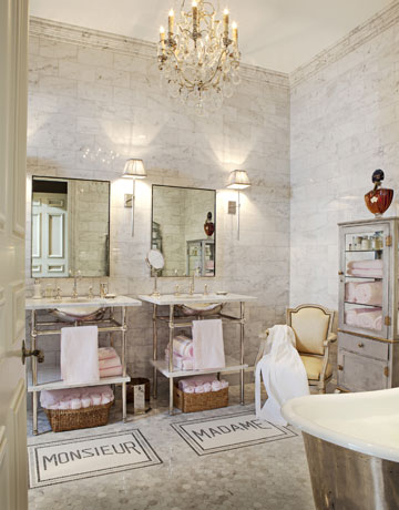 Alkemie a ritzy and glamorous parisian bathroom for French country bathroom lighting