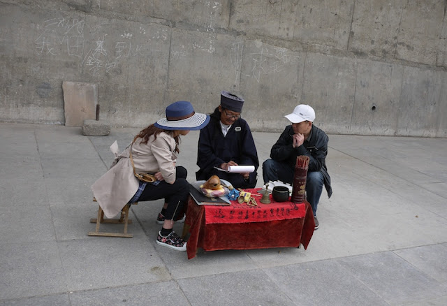 fortune telling in Xining, Qinghai, China