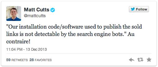 Backlinks.com opgerold door Google