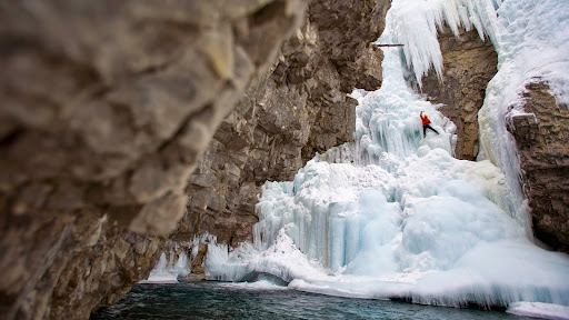Ice Climbing, Johnstone Canyon, Banff National Park, Alberta.jpg