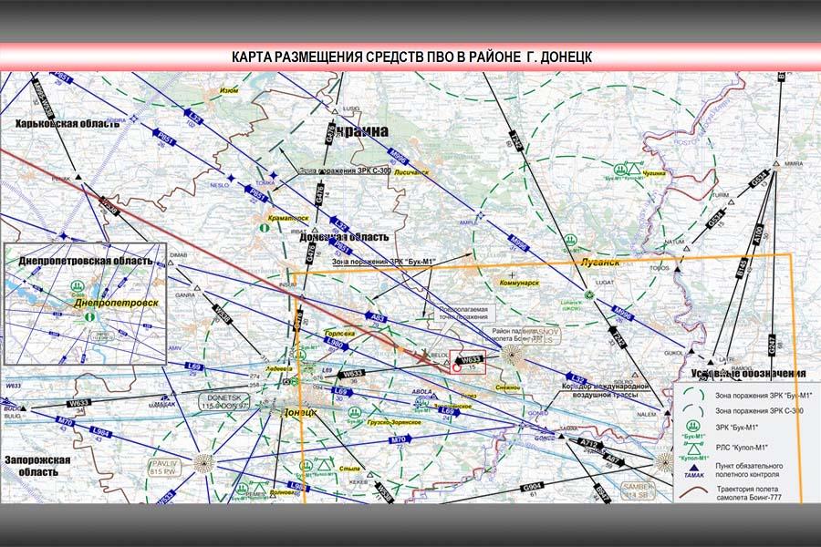 карта воздушных трасс