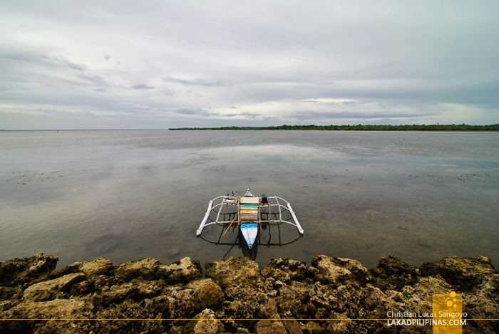 Lone Boat at Sta. Rosa Port at Olango Island in Cebu