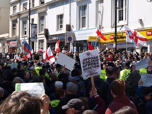 Racist March for England Brighton