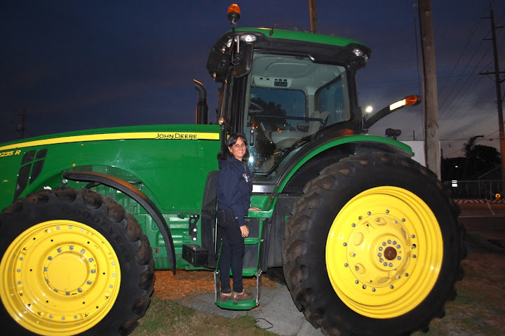Here I am admiring the farm equipment