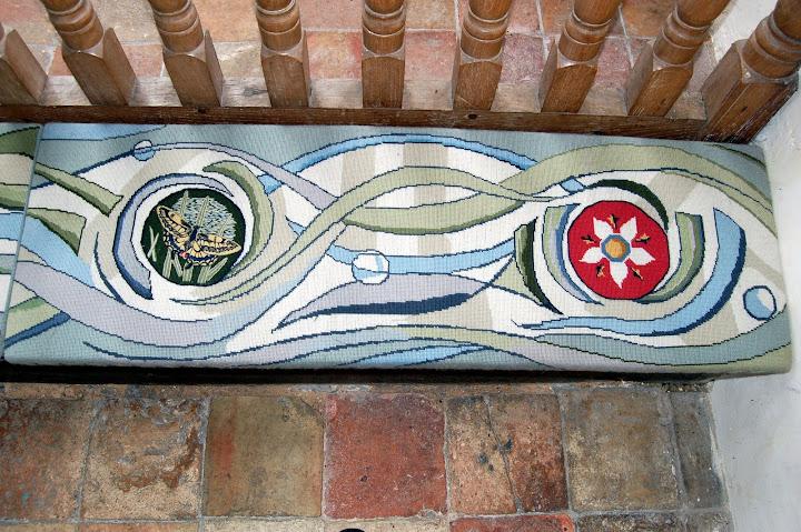 Embroidered kneeler