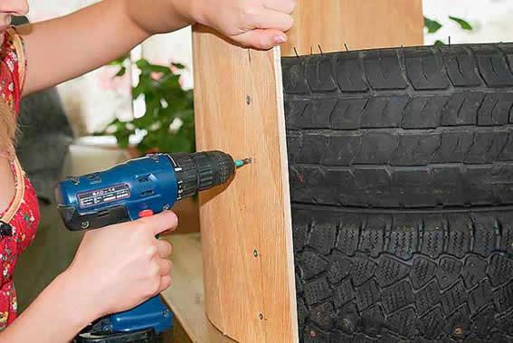 Como fazer poltrona de pneus
