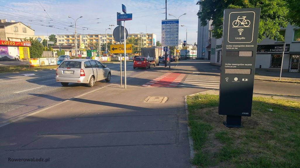 Liczydło przy ul. Rzgowskiej będzie zliczać rowerzystów jadących z Chojen w kierunku miasta