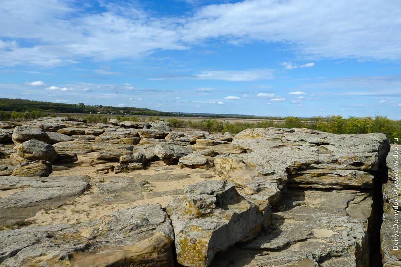 Вид в вершины Каменной Могилы