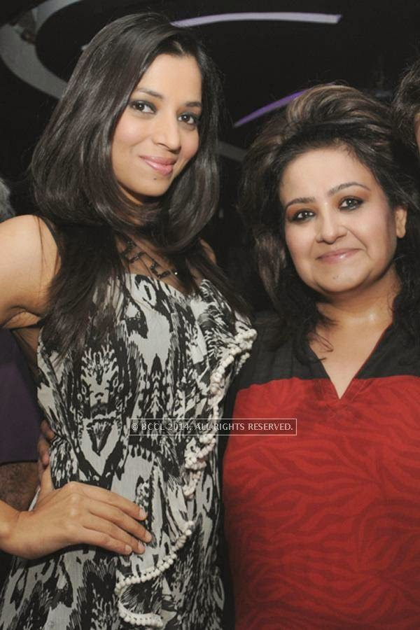 Bindiya and Poonam Sethi during the party, held at BW club, New Friends Colony.
