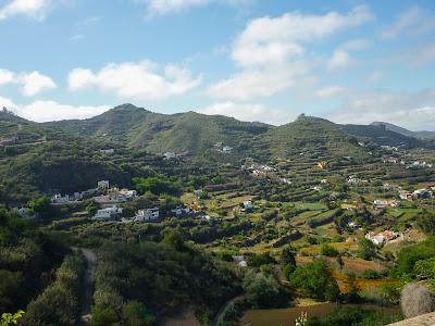 Terassenlandschaft im Nordosten Gran Canarias.