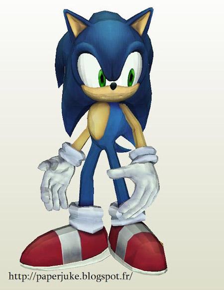 SSBB Sonic Papercraft