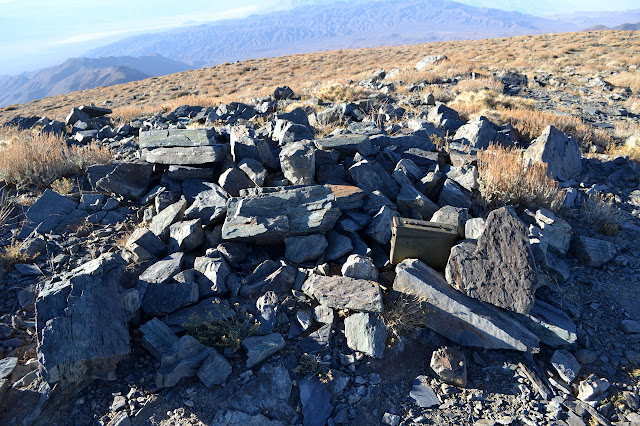rocky top of Bennett Peak