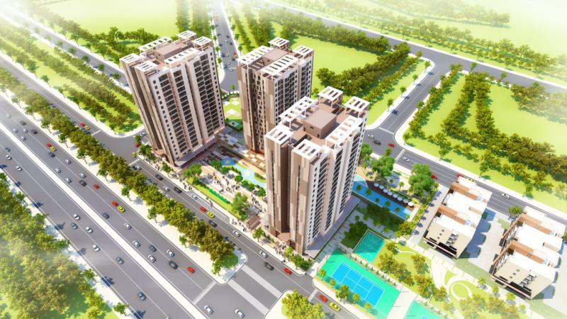 Phối cảnh chung cư Việt Hưng Green Park