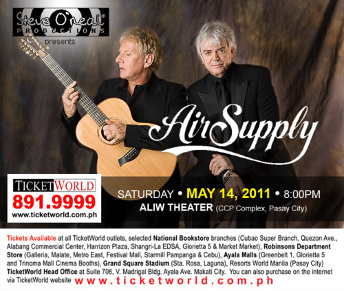 Air Supply Live in Manila 2011, Air Supply Live in Manila May 2011, AirSupply_Live_in_Manila_poster,