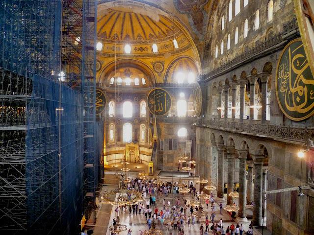 Inside Hagia Sofia