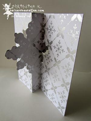 stampin up, schneekristall karte, snowflake thinlits card, weihnachten, Christmas, designer paper, designerpapier