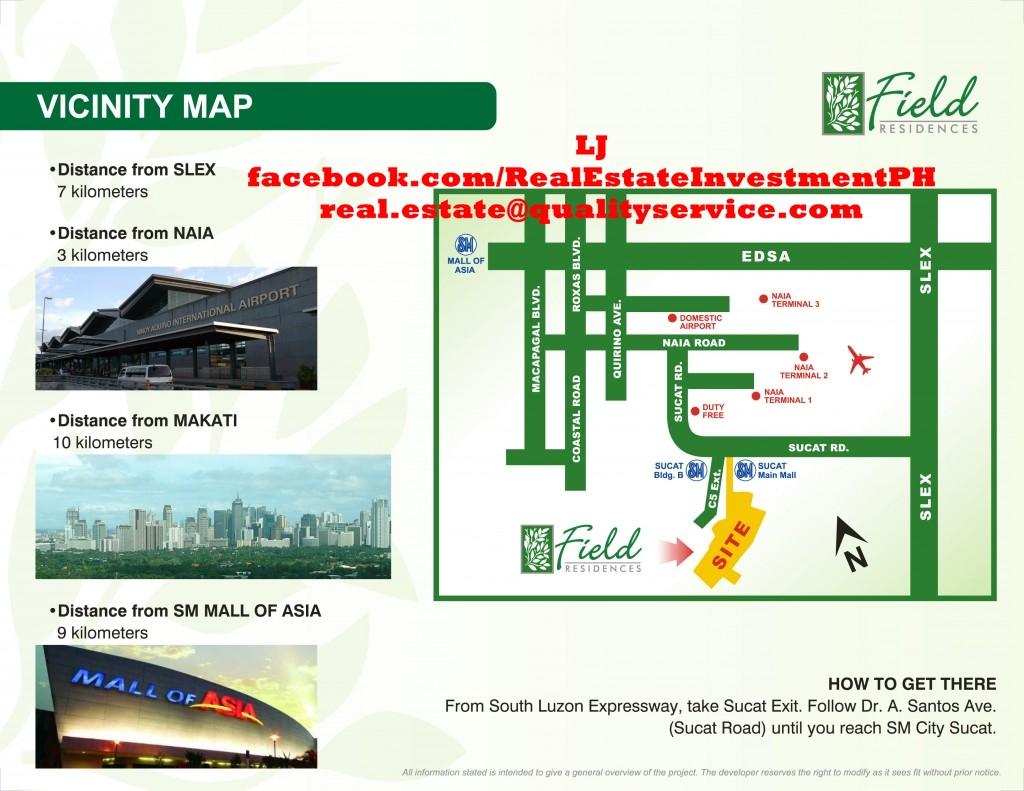SMDC Field Residences Vicinity Map