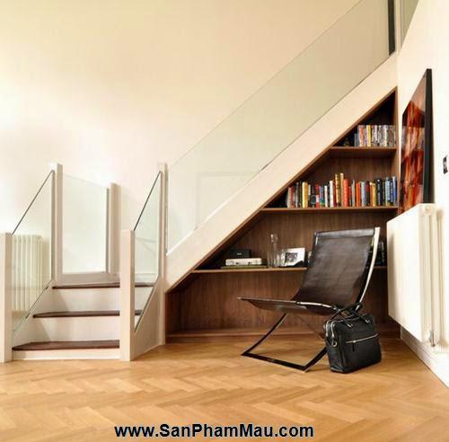 Mẹo thiết kế tủ cầu thang hữu ích - Tủ âm tường gỗ-9