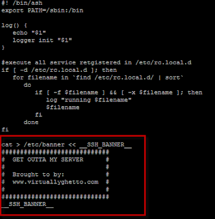 How to enable SSH security banner on ESXi
