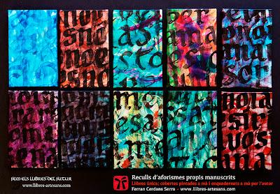 Nova sèrie llibres aforismes manuscrits