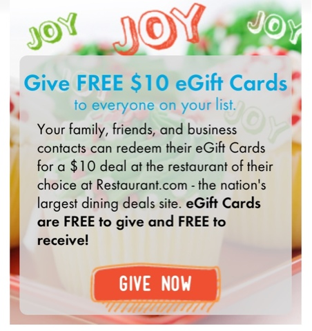 Feed It Forward with Restaurant.com - Give a Free Gift Certificate
