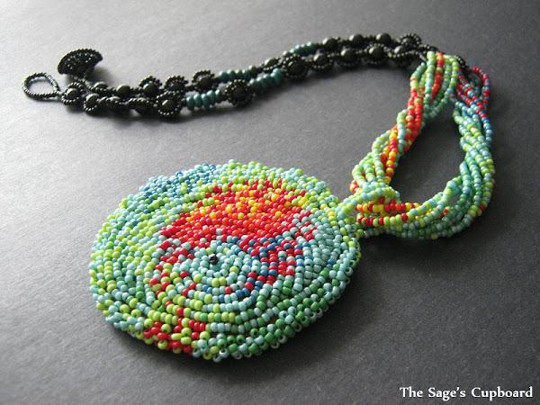 Panther Chameleon Medallion Necklace