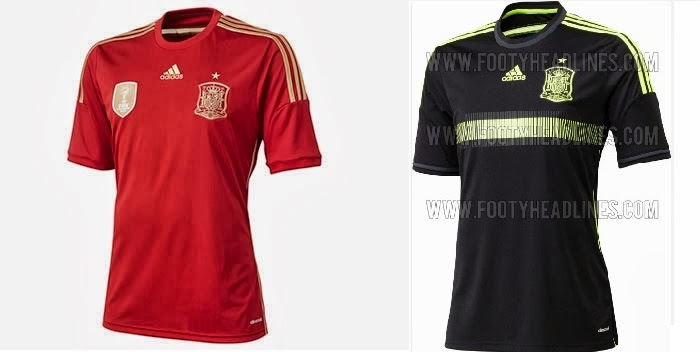 Spain Home Kit 2014 World Cup Official Release – Away Kit