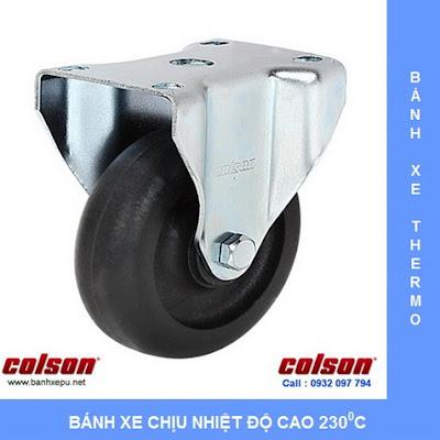 Bánh xe chịu nhiệt +230C Colson cho xe đẩy trong lò xoay | 2-4608-53HT www.banhxepu.net