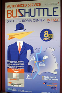 Rome Airport Bus Poster