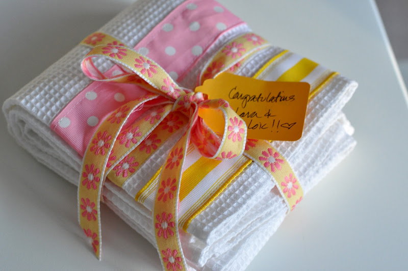 Aesthetic nest sewing ribbon dish towels tutorial i cant help but think about easter i dont know which came first this ribbon combination or the wish for something pink yellow and spring green negle Gallery