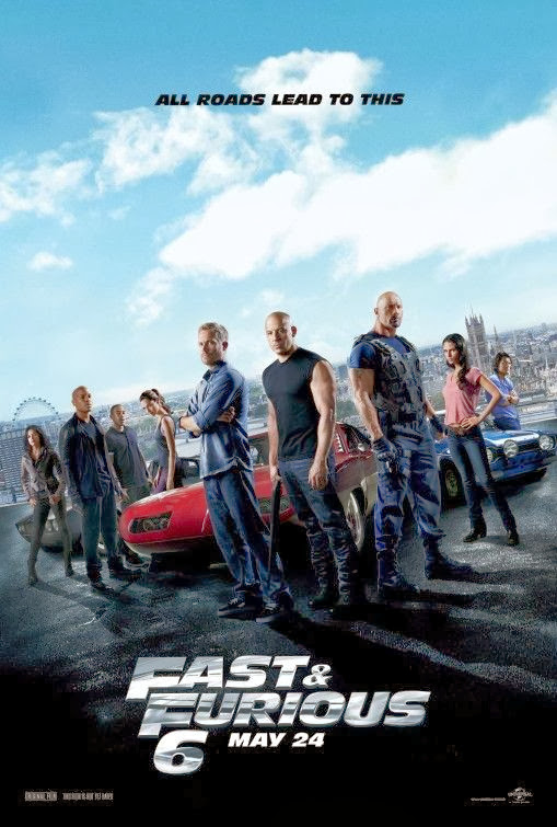 Poster Of Fast and Furious 6 (2013) Full Movie Hindi Dubbed Free Download Watch Online At Alldownloads4u.Com
