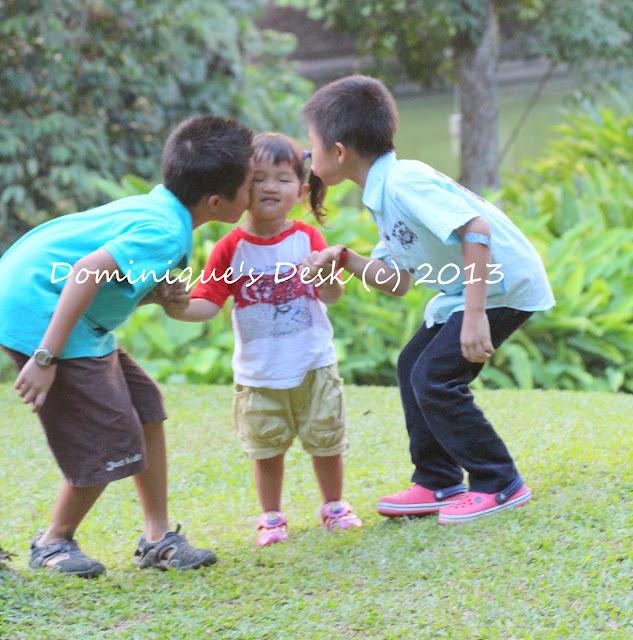 The boys kissing Tiger Girl