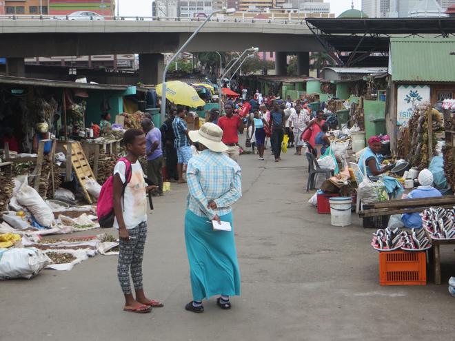 Victoria Street Market, Durban, Zuid Afrika