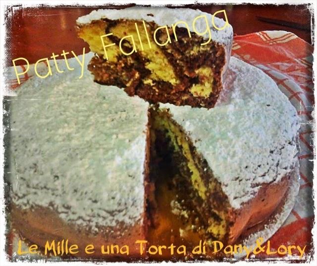 torta zebrata al cacao e marmellata di castagne