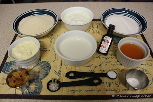 Orange Semolina Cake or Rava Cake Ingredients