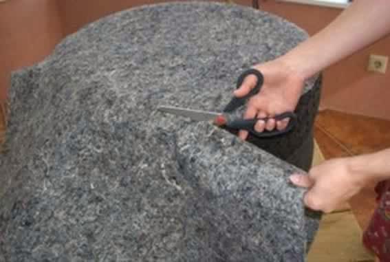 Como cortar feltro com tesoura