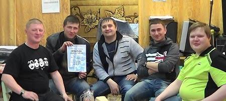 Группа «Qivi-progect» в полном составе. Слева направо: О. Свалов, А. Бурмистров, О. Мамедов, Л. Дёмин и В. Данилов