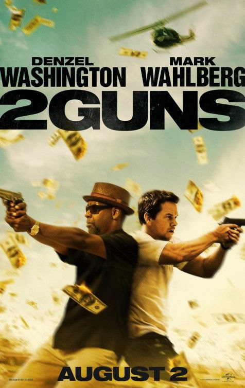 Poster Of English Movie 2 Guns (2013) Free Download Full New Hollywood Movie Watch Online At Alldownloads4u.Com