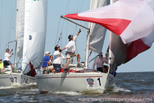 J/30 one-design sailboats- sailing in New Orleans, LA