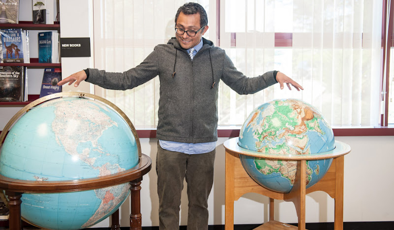 Academic Hoodie with two globes
