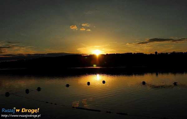kaszuby stężyca jezioro raduńskie zachód słońca