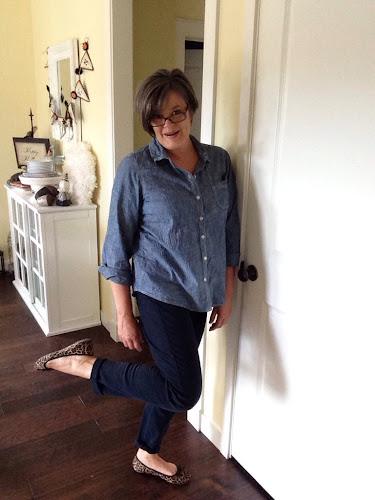 Denim shirt, fashion Friday