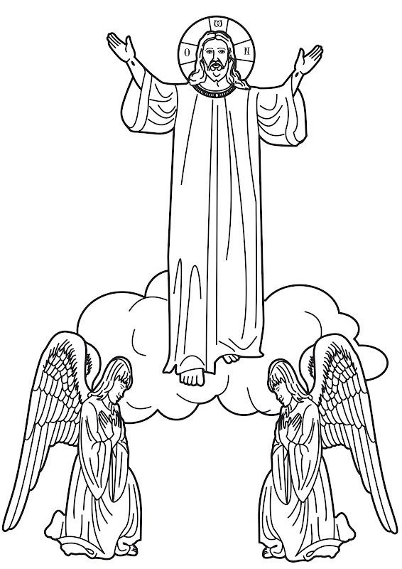 christ ascension into heaven coloring pages