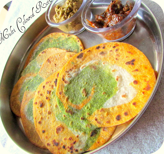 multi coloured rotis