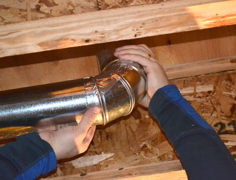 how to cut dryer vent pipe