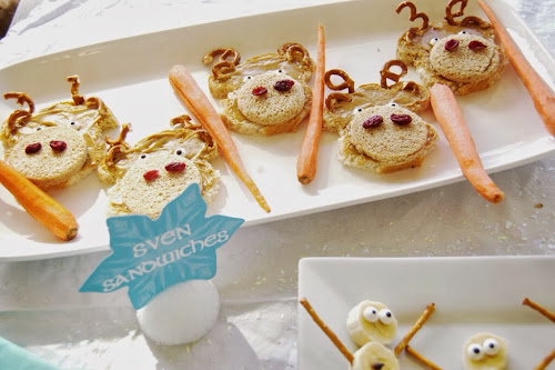 Frozen birthday party, Sven sandwiches, frozen party food