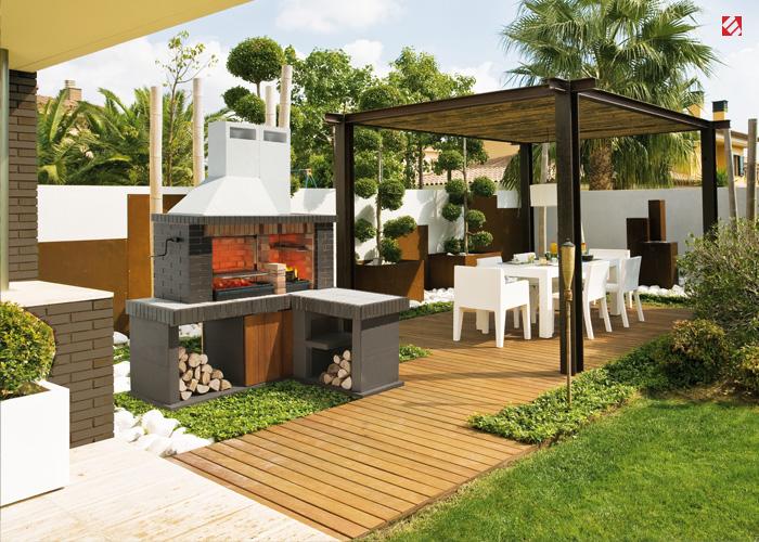 Jardinitis consejos para instalar una barbacoa prefabricada for Cocinas en terrazas