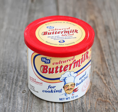 photo of a package of powdered buttermilk